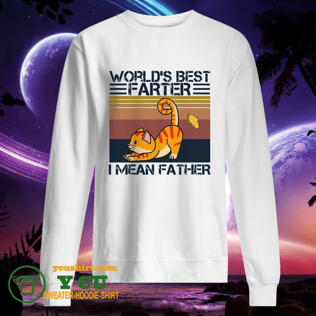 Cat World's best farter I mean Father vintage sweater