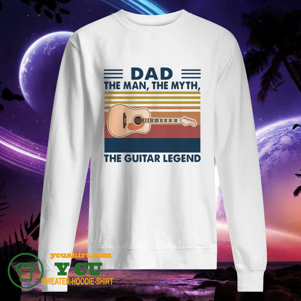 Dad the man the myth the guitar legend vintage sweater