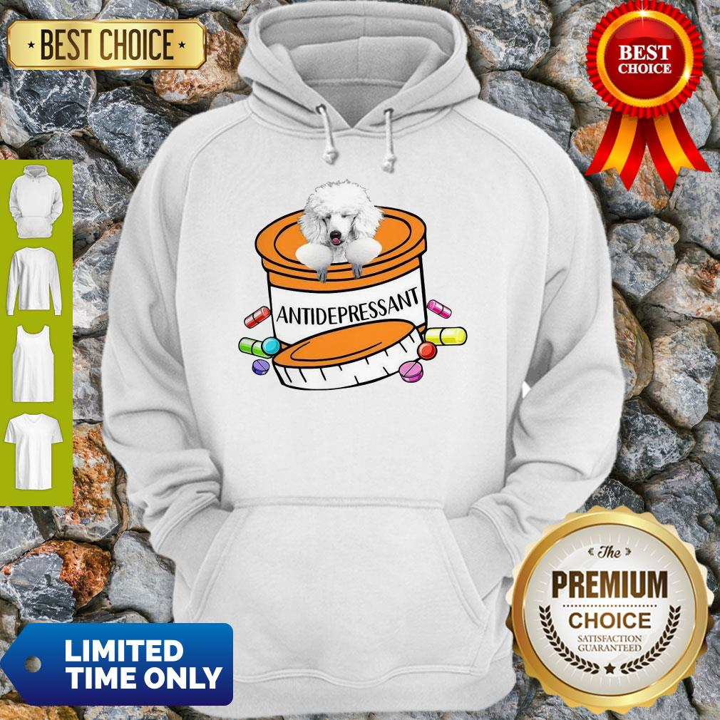 Official White Poodle Antidepressant Hoodie