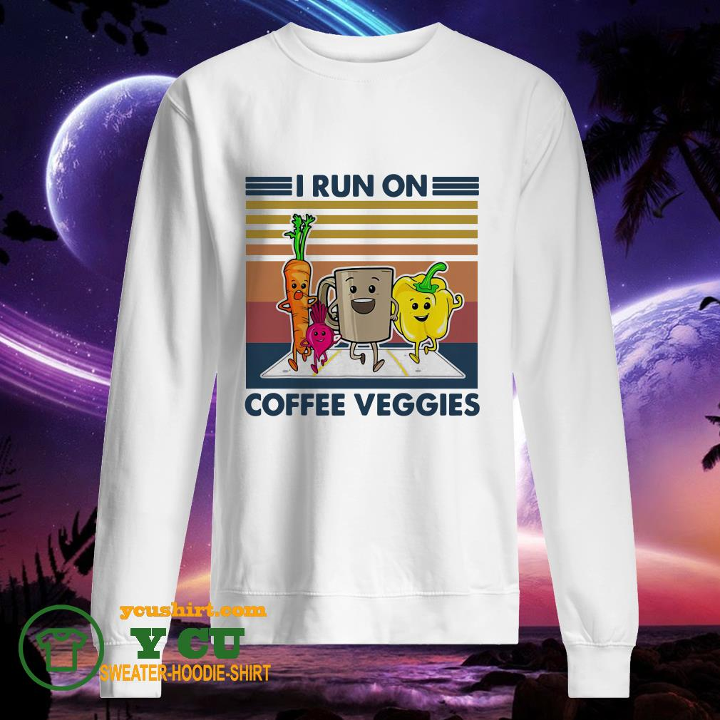 I run on coffee veggies vintage sweater