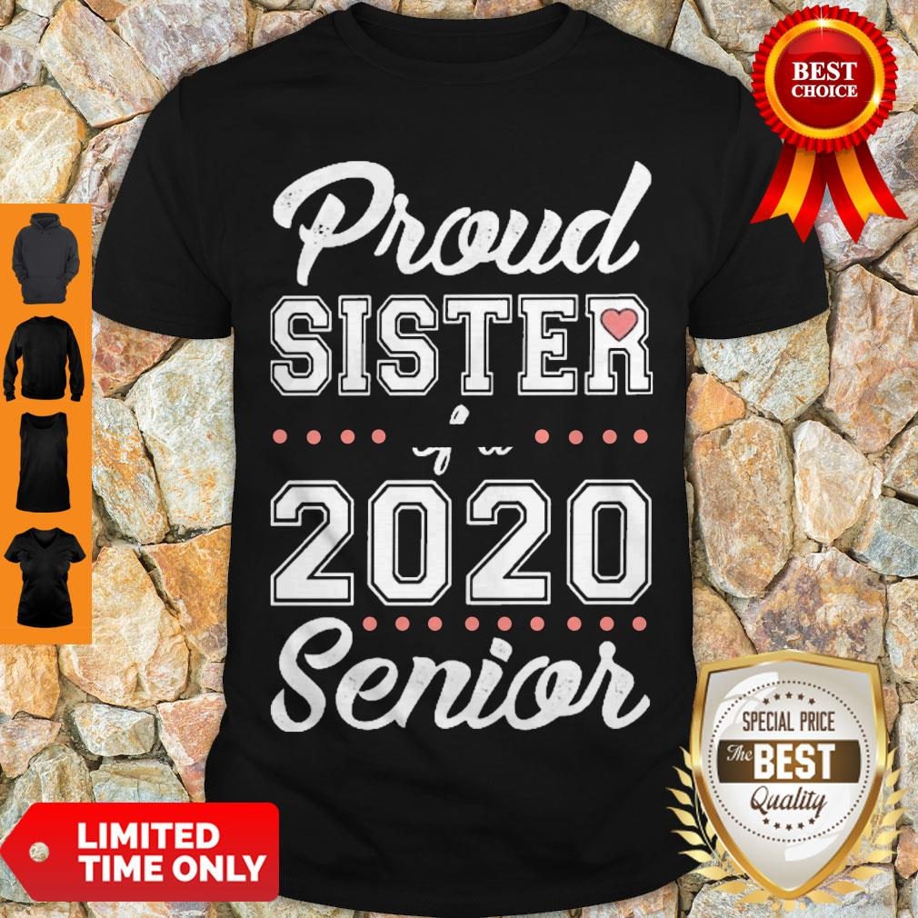 Official Proud Sister Of A 2020 Senior Shirt