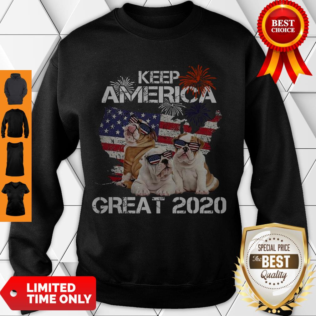 Premium Pitbulls Keep America Great 2020 Sweatshirt