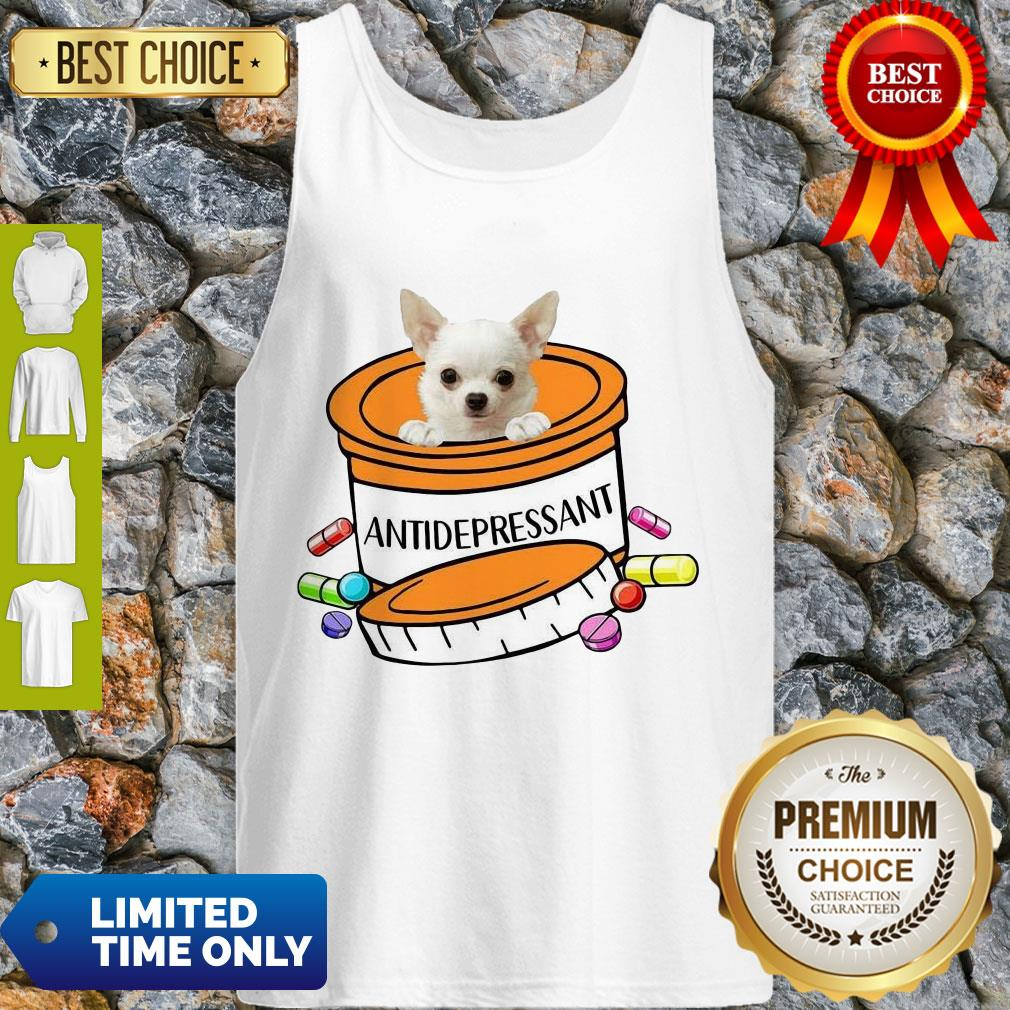 Top White Chihuahua Antidepressant Tank Top