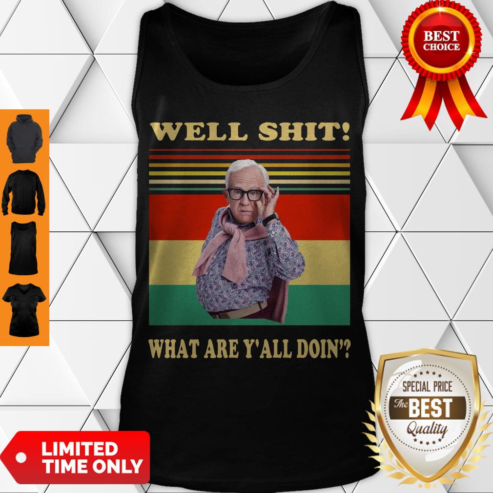 Funny Leslie Jordan Well Shit What Are Y'all Doin' Vintage Tank Top