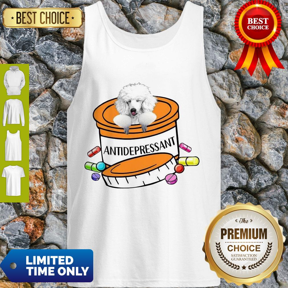 Official White Poodle Antidepressant Tank Top