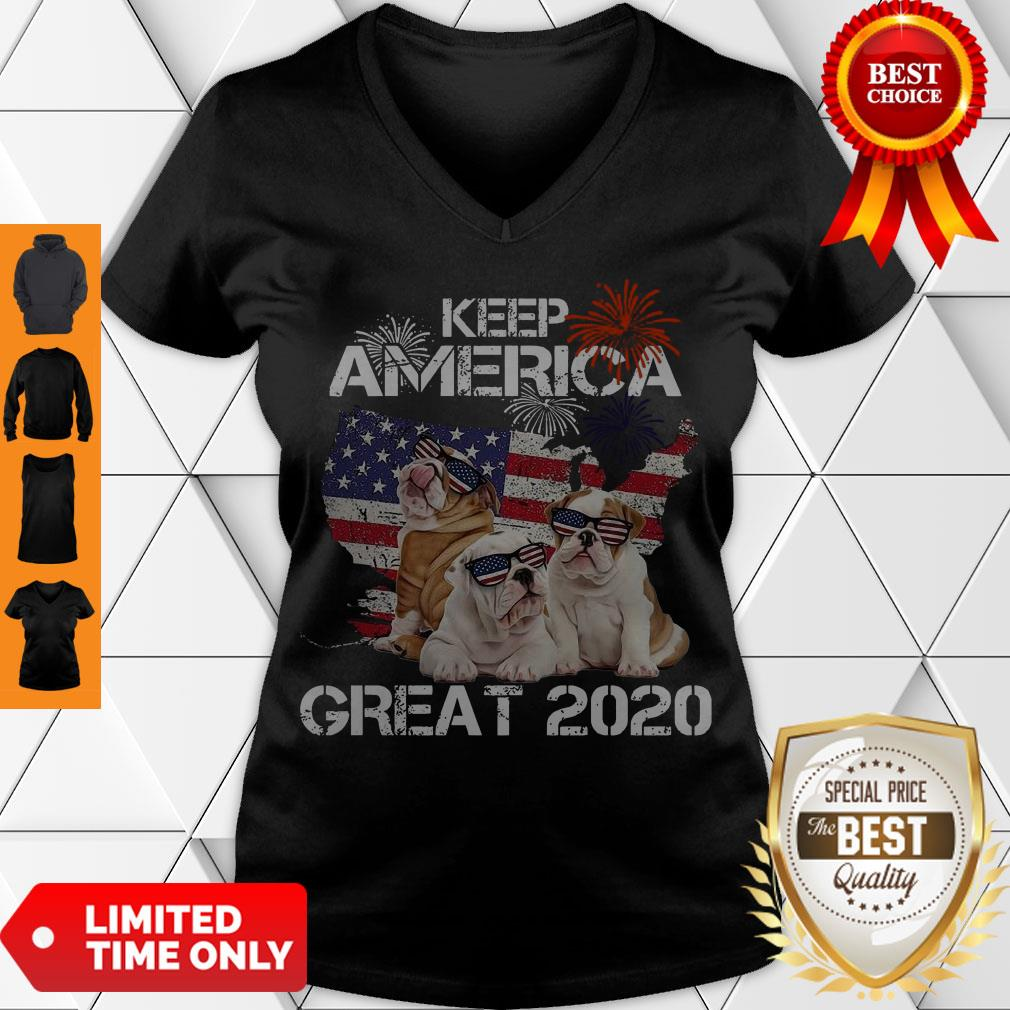 Premium Pitbulls Keep America Great 2020 V-neck