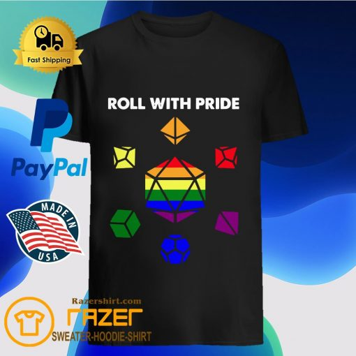 Roll with Pride LGBT Dungeon and Dragons shirt