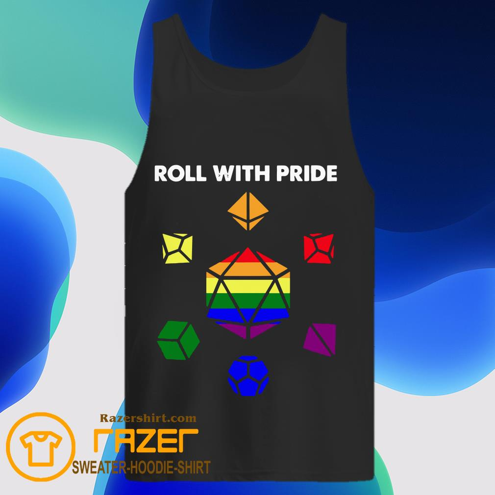 Roll with Pride LGBT Dungeon and Dragons Tank Top