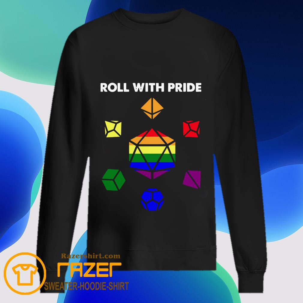 Roll with Pride LGBT Dungeon and Dragons Sweatshirt