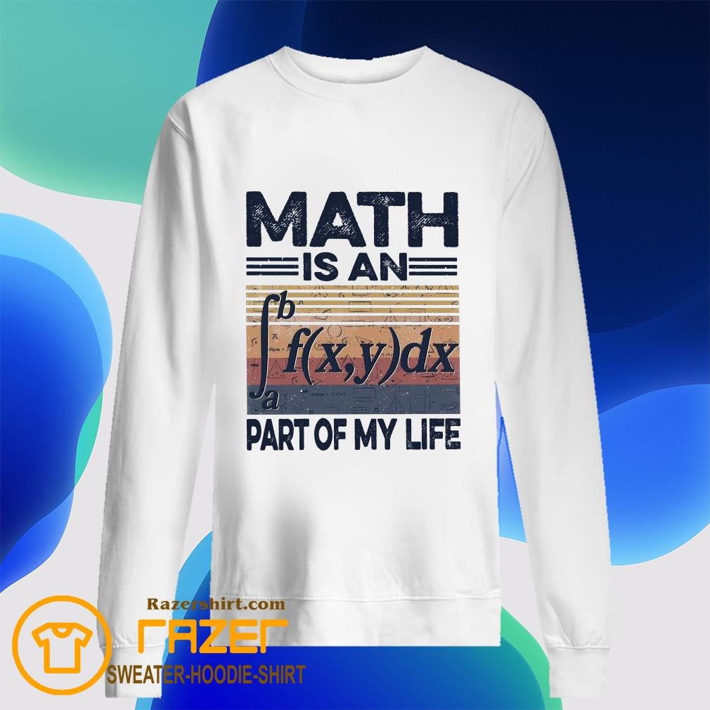 Math is an part of my life vintage Sweatshirt