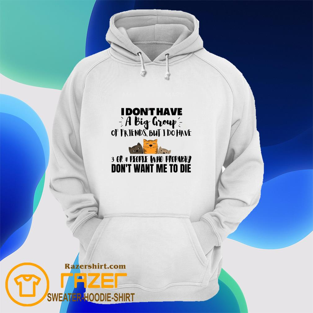 I Don't Have A Big Group Of Friends But I Do Have Don't Want Me To Die Hoodie
