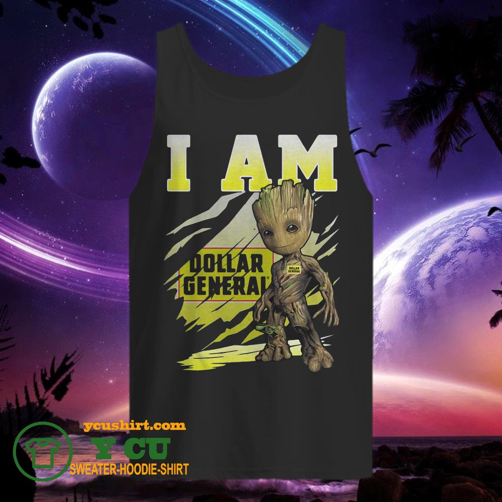 Baby Groot I Am Dollar General tank top
