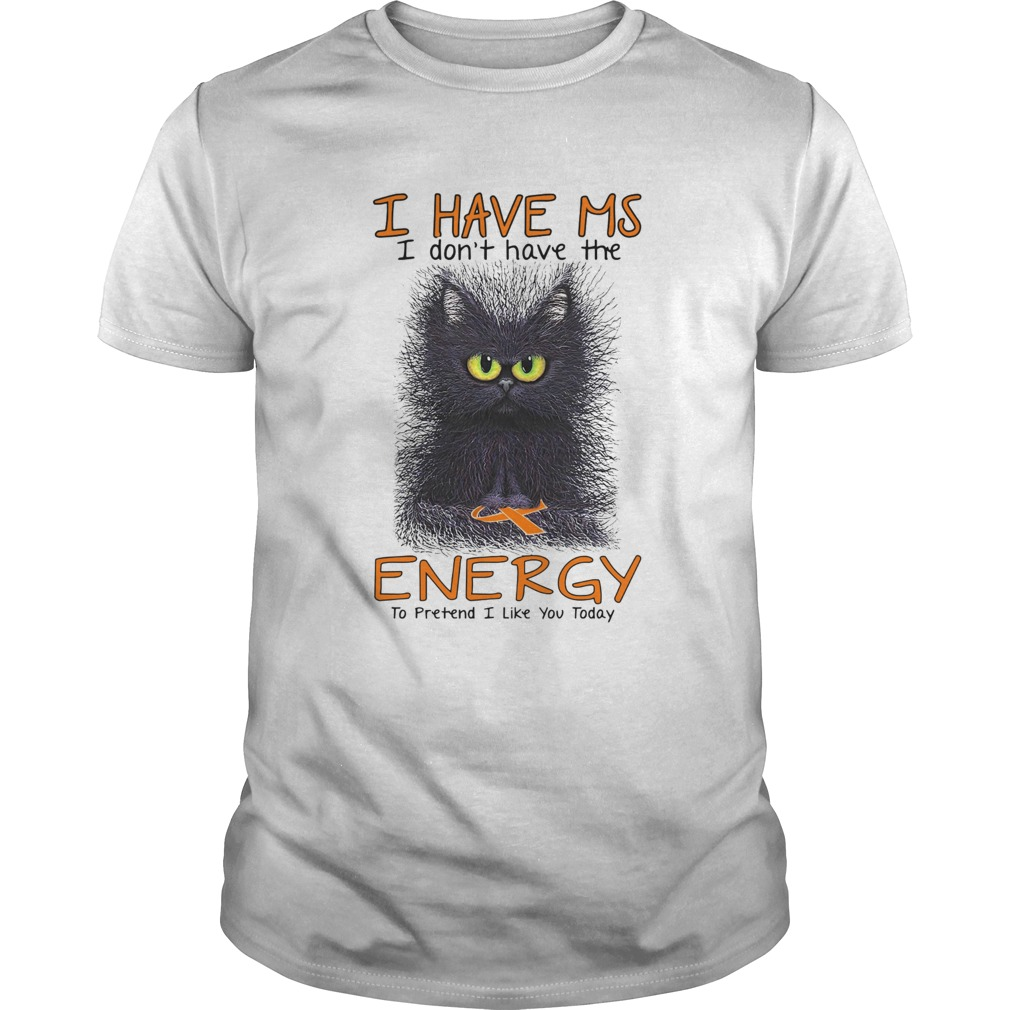 Black Cat I Have Ms I Dont Have The Energy To Pretend I Like You Today Unisex