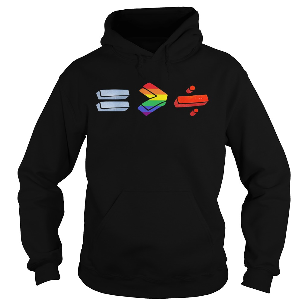 Equality bigger than division lgbt  Hoodie