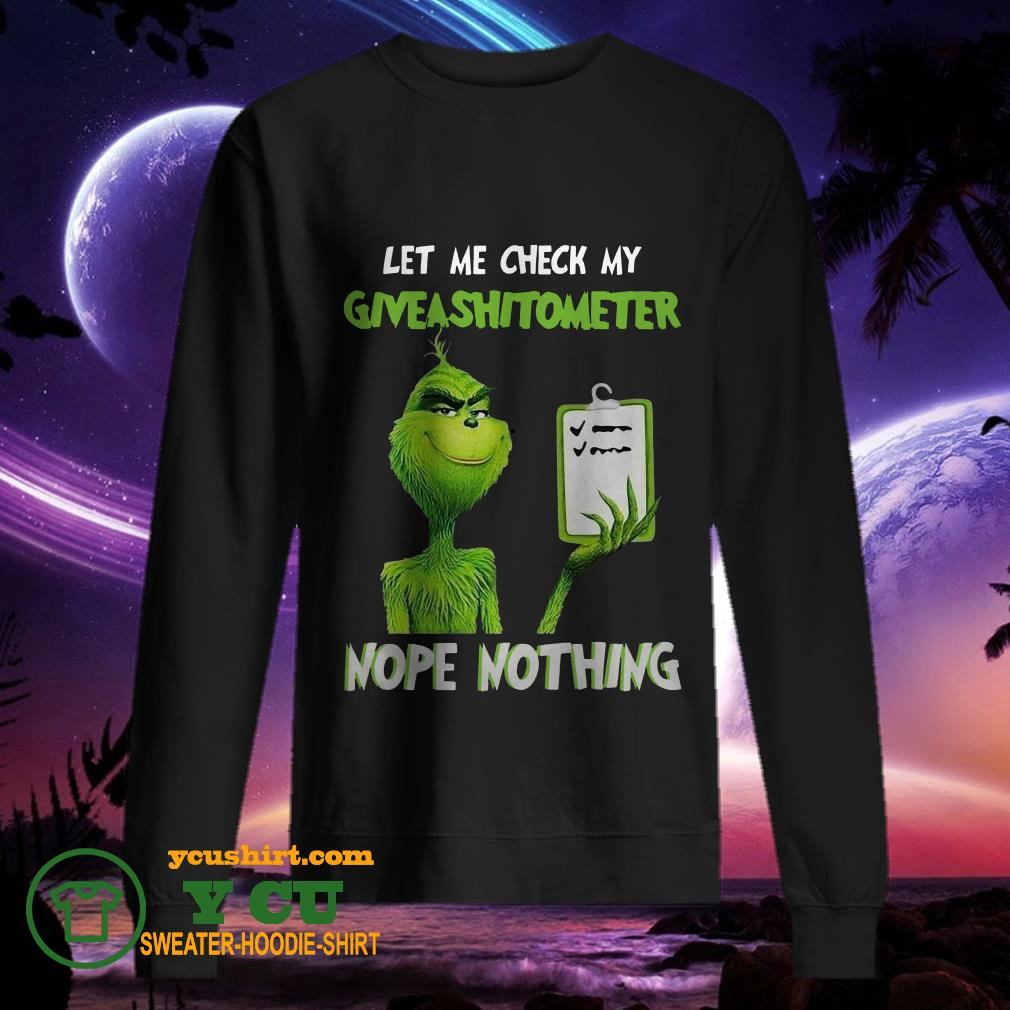 Grinch Let Me Check My Giveshitometer Nope Nothing sweater