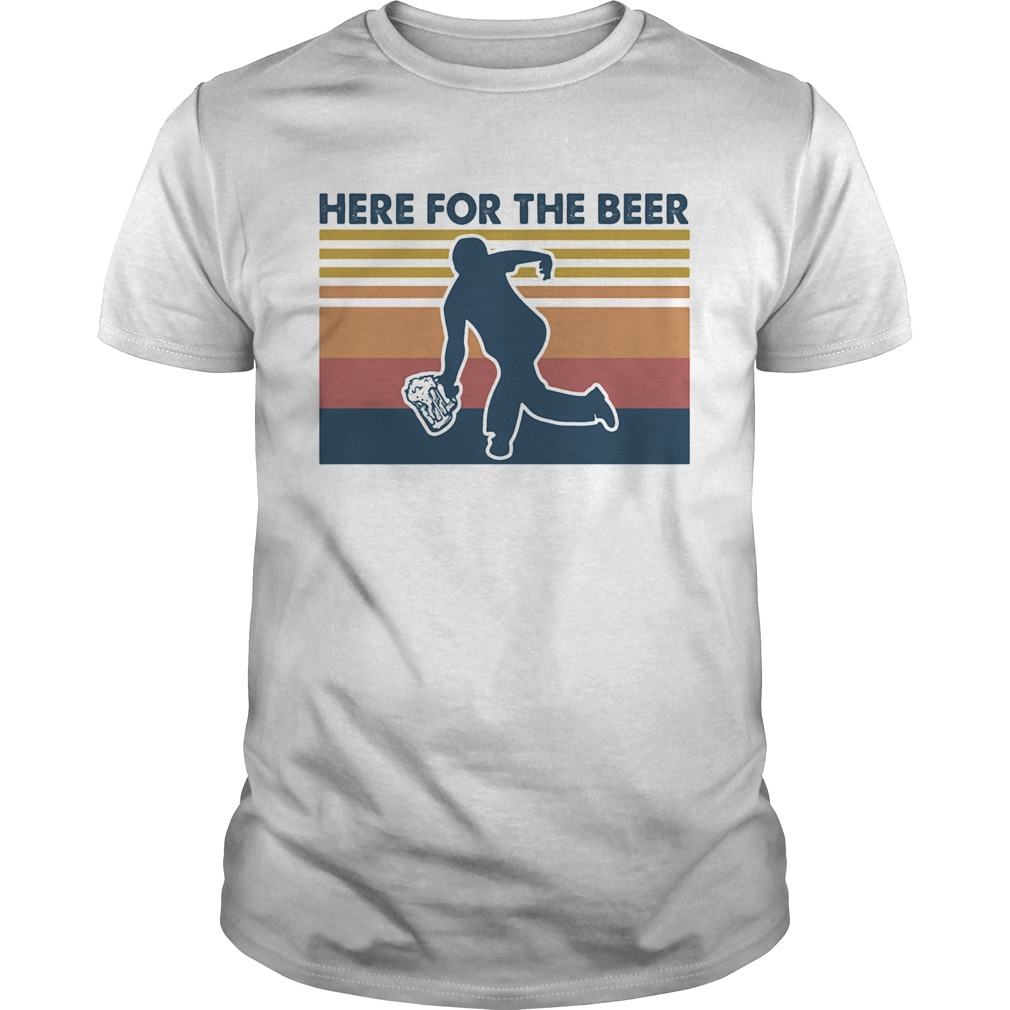 Here for the beer vintage retro Unisex