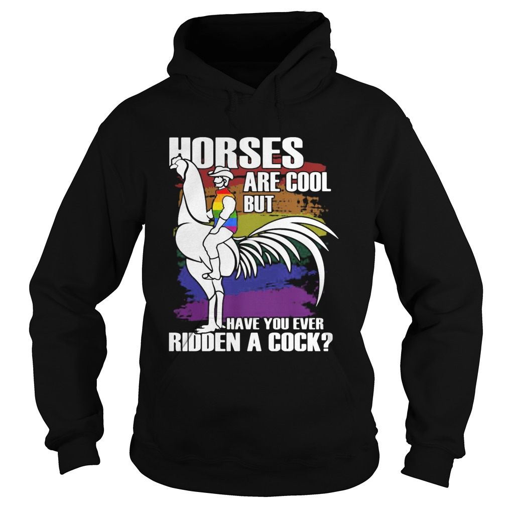 Horses Are Cool But Have You Ever Ridden A Cock LGBT  Hoodie