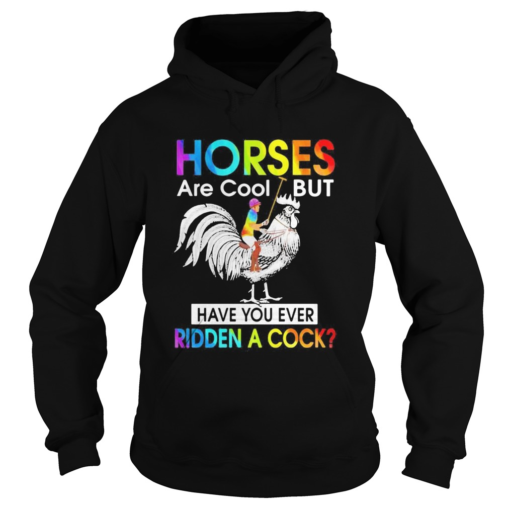 Horses Are Cool But Have You Ever Ridden A Cock LGBT Men Plain Front  Hoodie