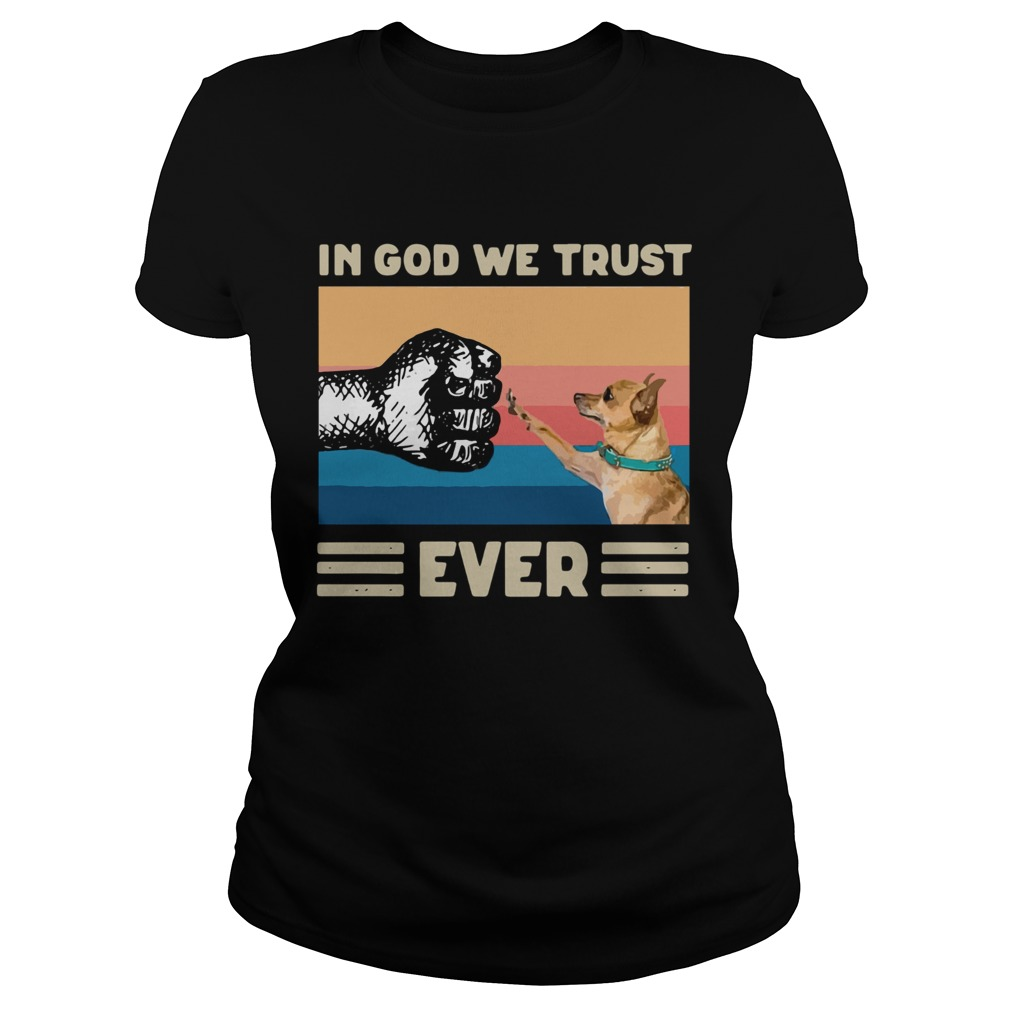 In God We Trust Ever American Flag Independence Day Vintage Classic Ladies