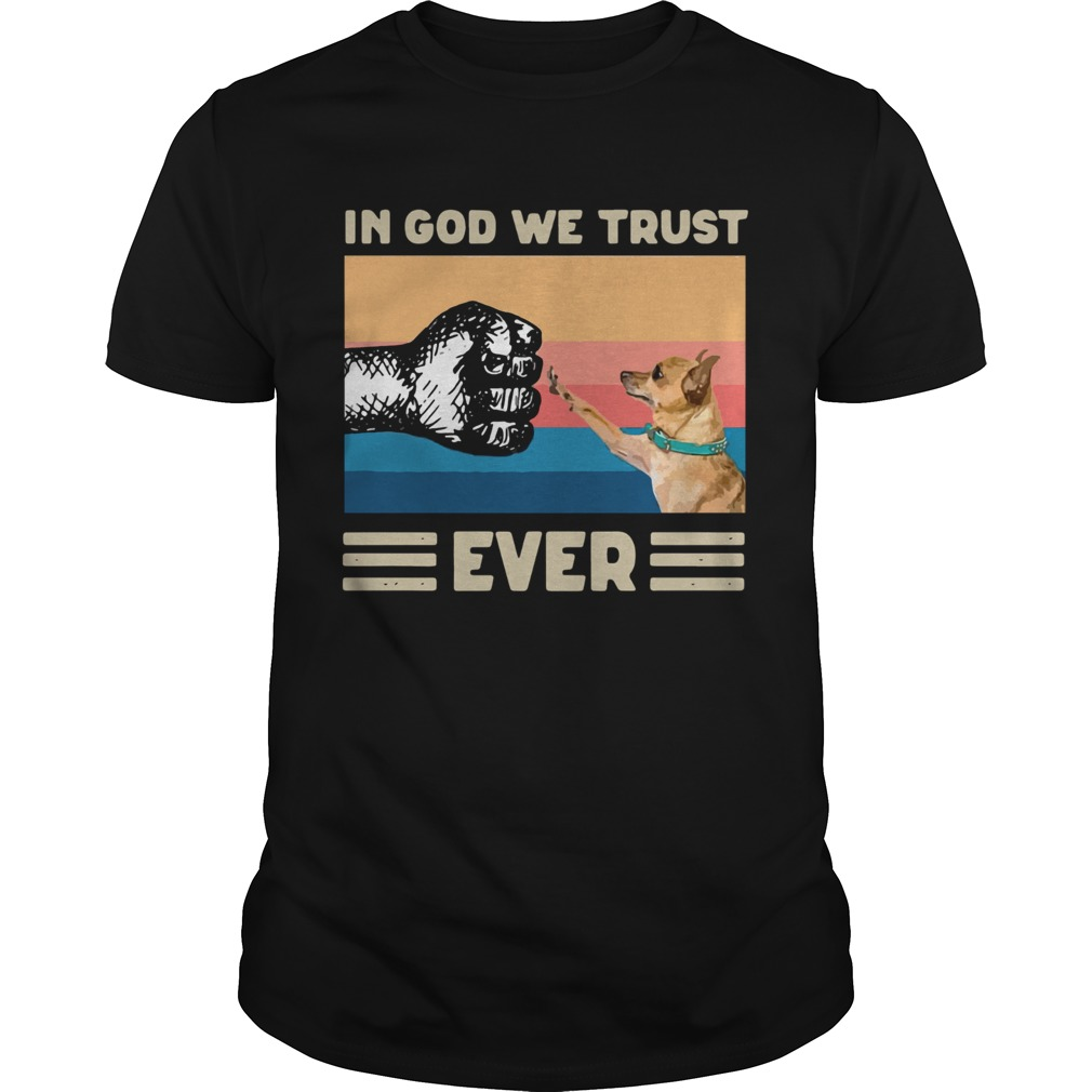 In God We Trust Ever American Flag Independence Day Vintage Unisex