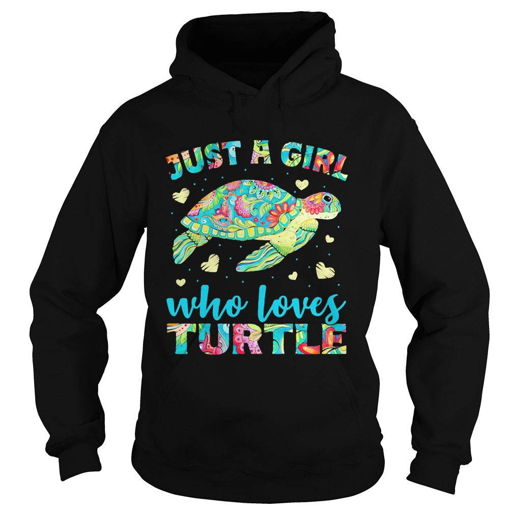Just A Girl Who Loves Turtle Color  Hoodie