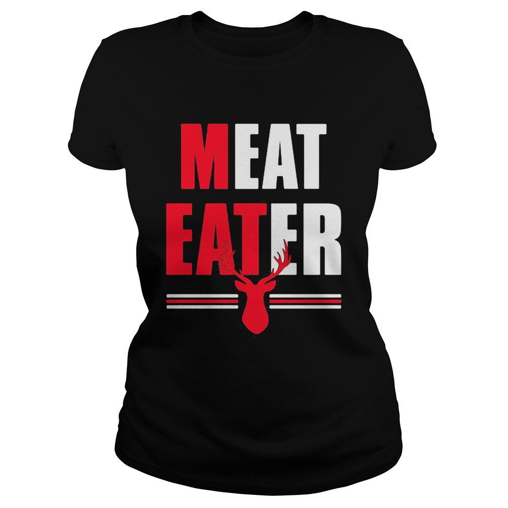 Meat Eater Red White The Alley  Classic Ladies