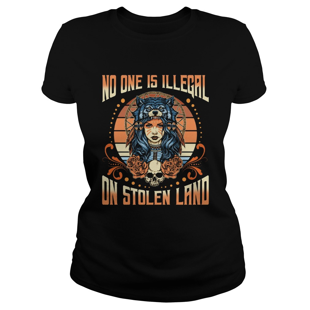 No One Is Illegal On Stolen Land Girl Skullcap Classic Ladies