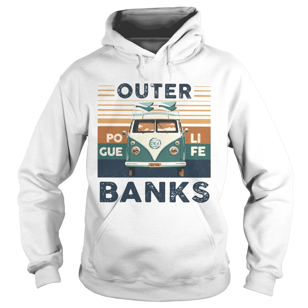 Outer banks poli gue fe vintage retro  Hoodie