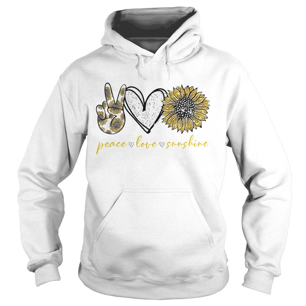 Peace love sunshine sunflower  Hoodie