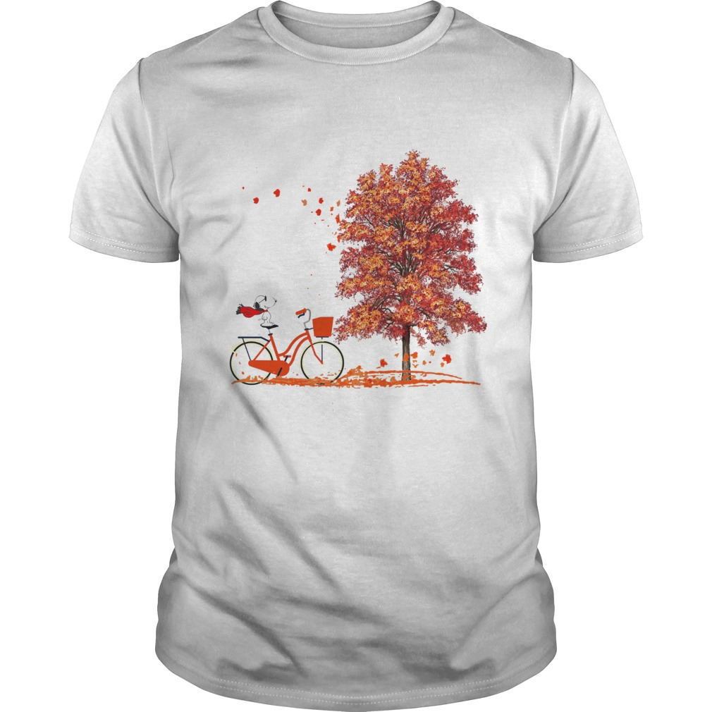 Snoopy Riding A Bicycle Hello Autumn Unisex