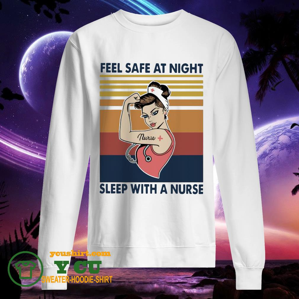 Strong Nurse Woman Feel Safe At Night Sleep With A Nurse Vintage sweater