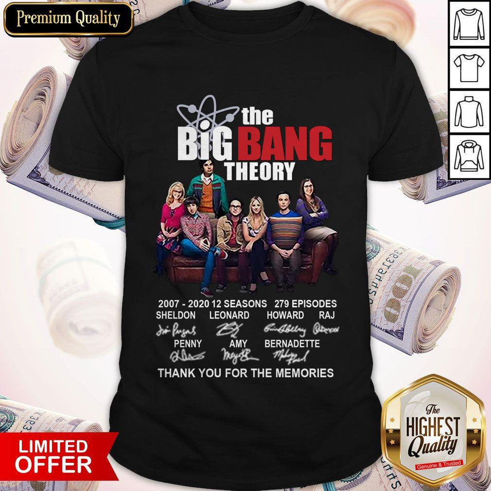 The Big Bang Theory 2007-2020 Thank You For The Memories Signatures Shirt