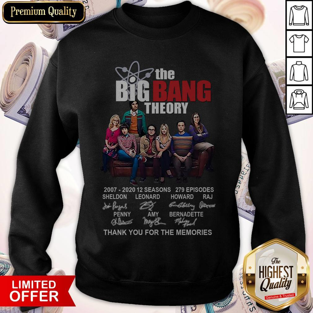 The Big Bang Theory 2007-2020 Thank You For The Memories Signatures Sweatshirt