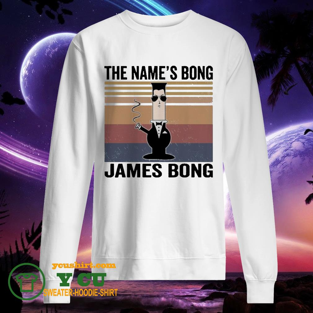 The name's bong James Bong vintage sweater