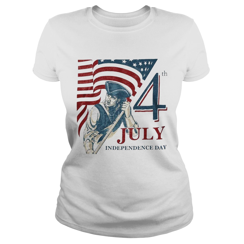 Vintage fourth 4th july independence day american flag Classic Ladies