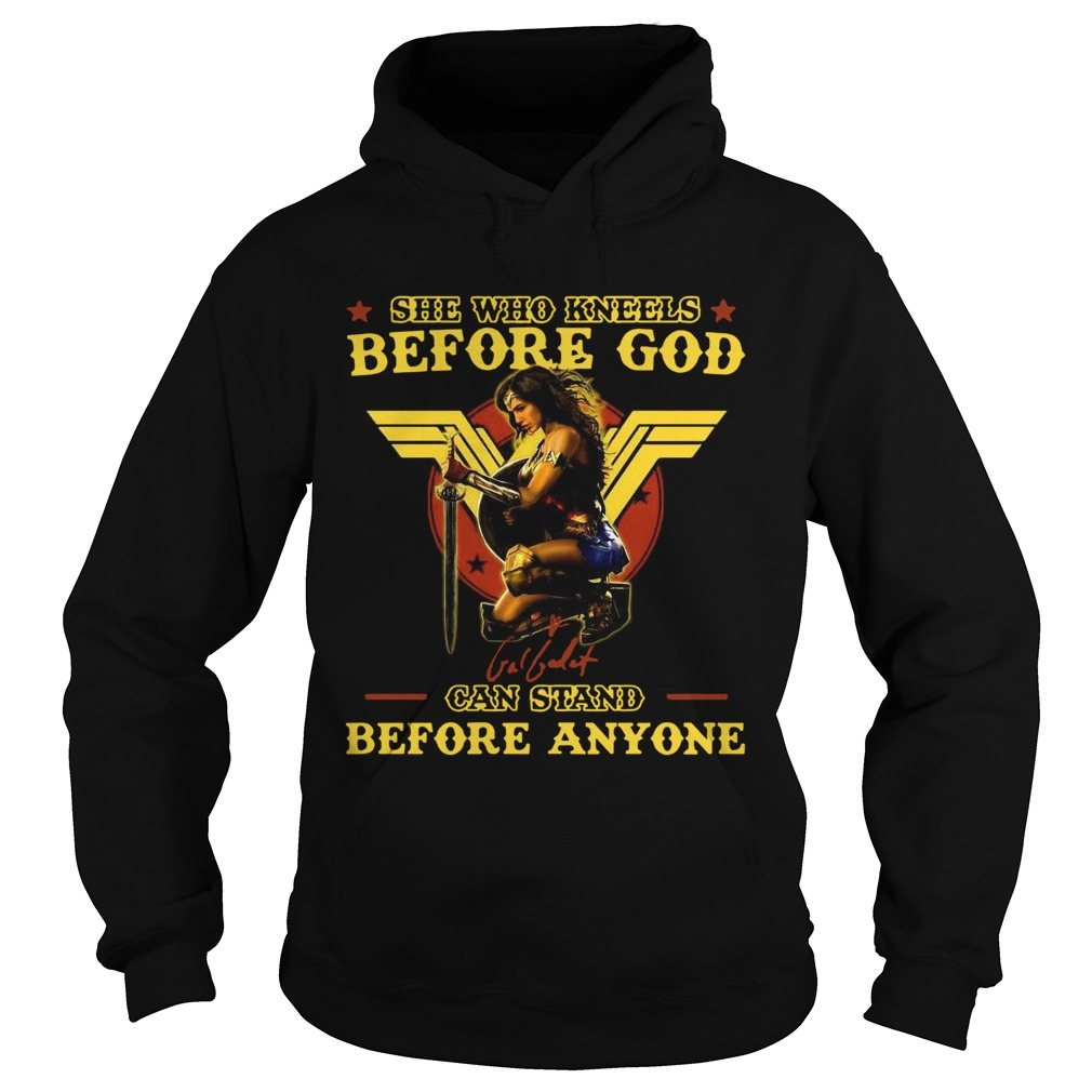Wonder Woman She Who Kneels Before God Can Stand Before Anyone  Hoodie