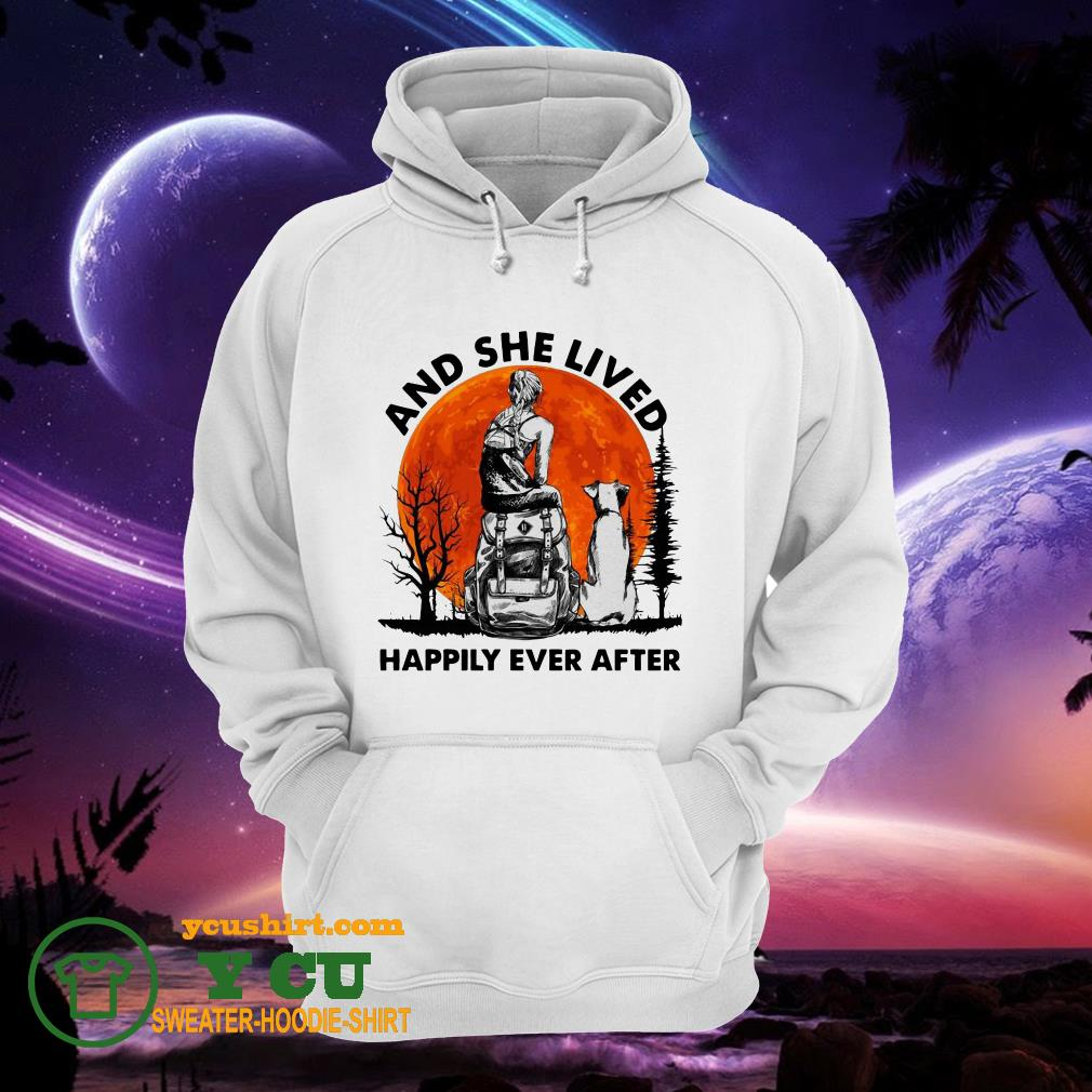 And She Lived Happily Ever After Moon hoodie