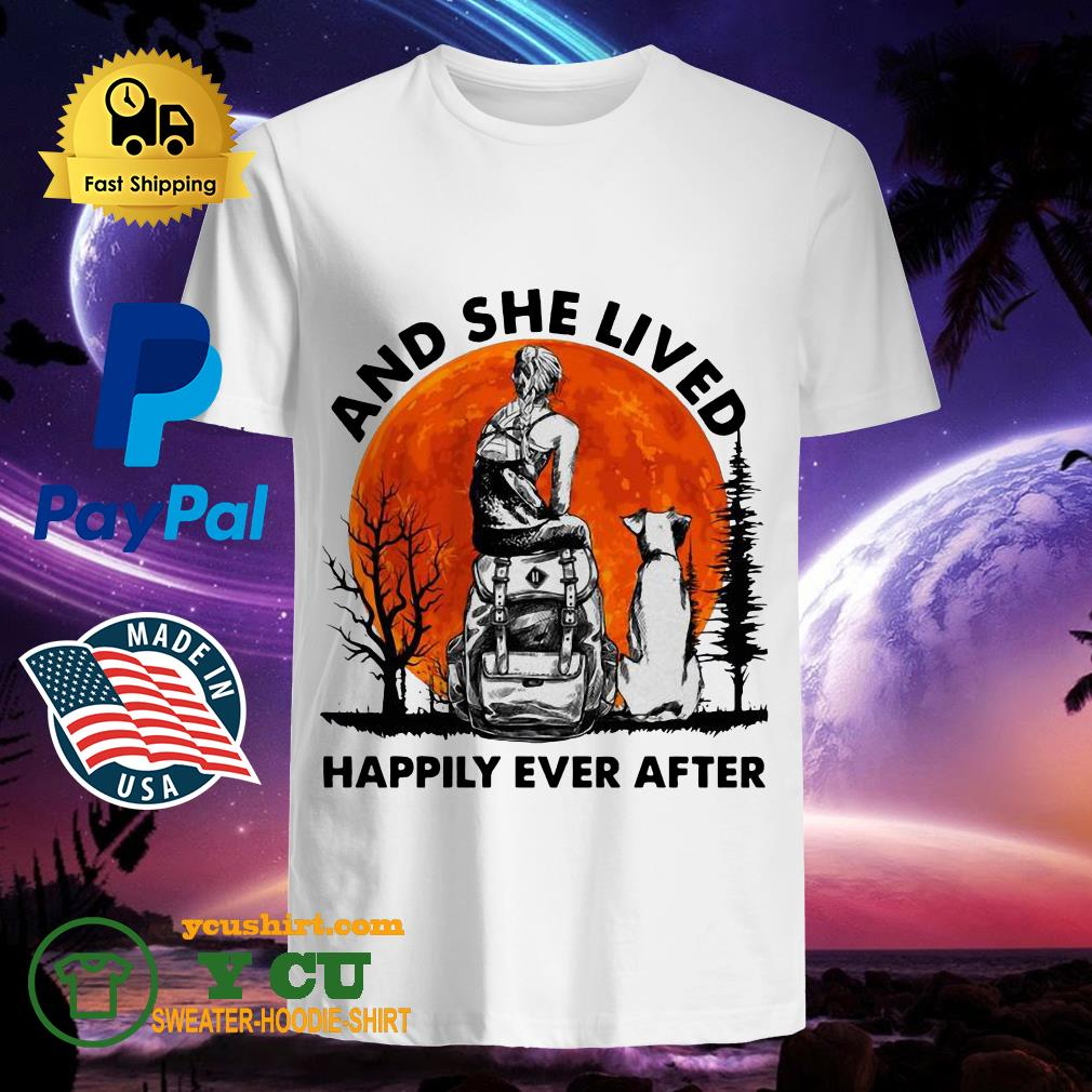 And She Lived Happily Ever After Moon Shirt