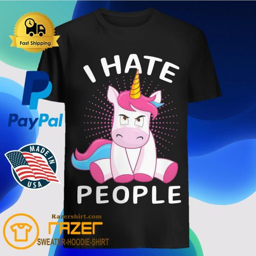 Baby Unicorn I hate People shirt