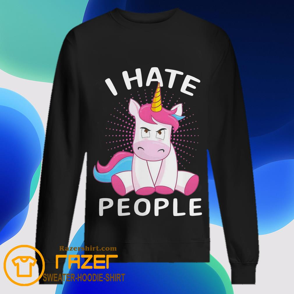 Baby Unicorn I hate People Sweatshirt