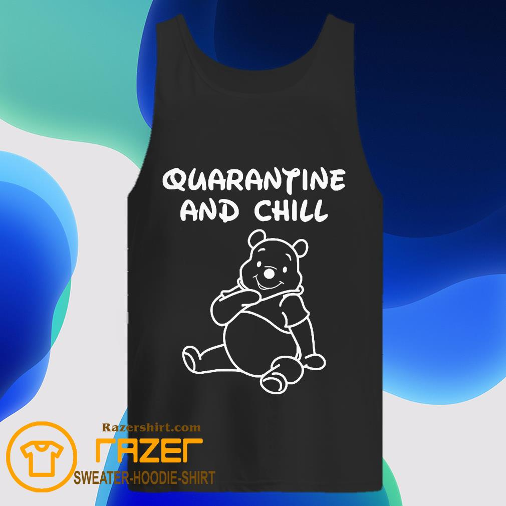 Bee cartoon Quarantine and Chill Tank Top