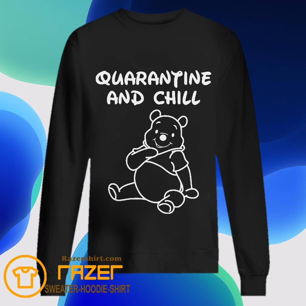 Bee cartoon Quarantine and Chill Sweatshirt