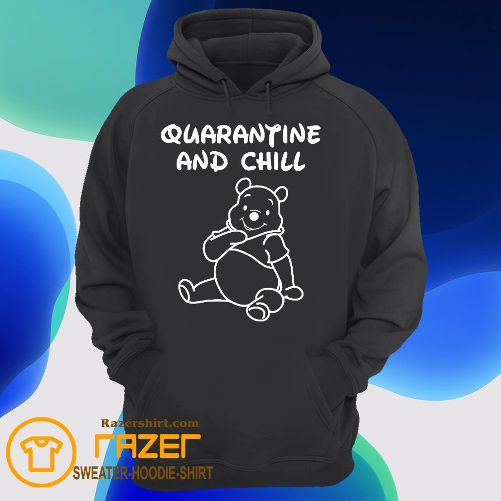 Bee cartoon Quarantine and Chill Hoodie
