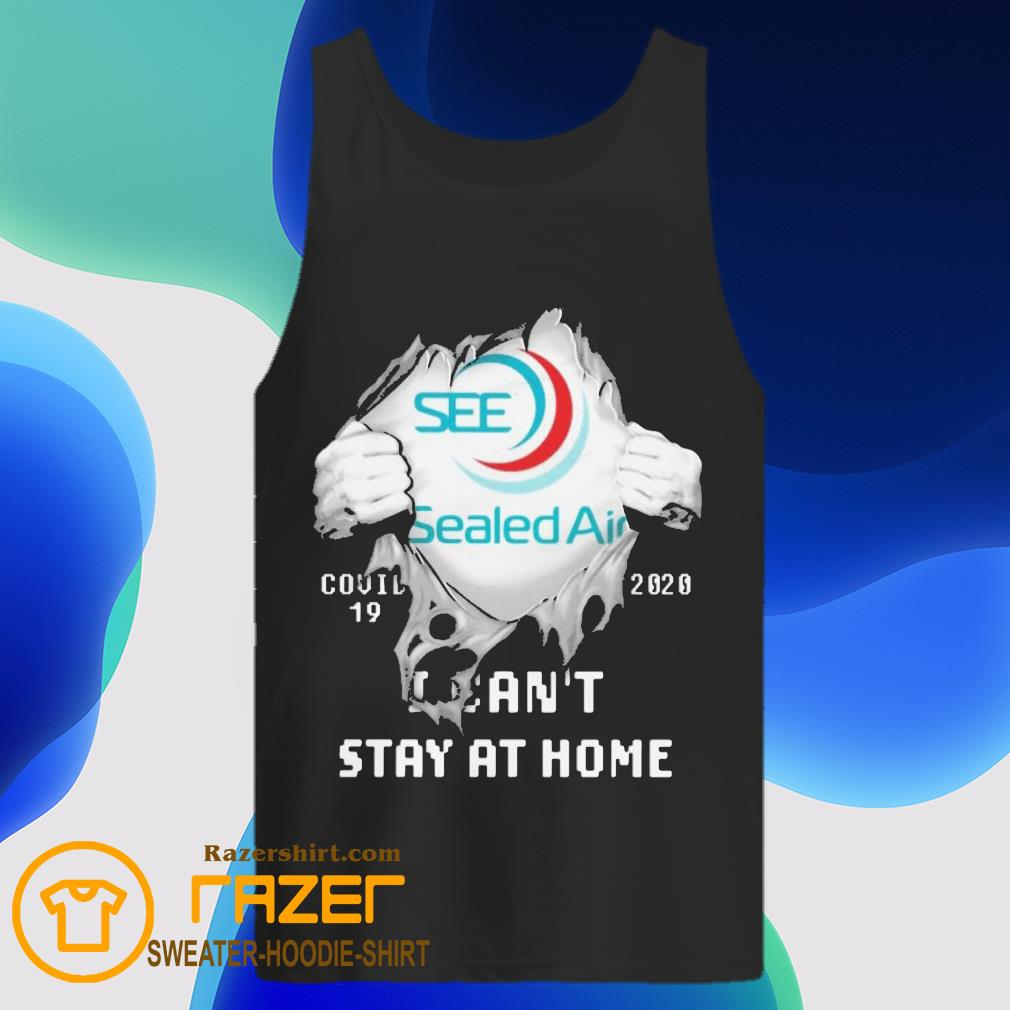 Blood inside me Sealed Air covid 19 2020 i can't stay at home Tank Top