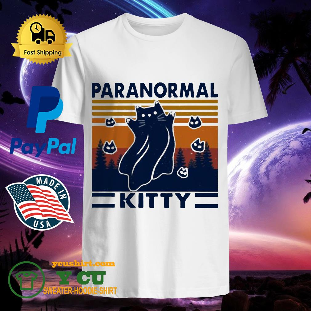 Cat paranormal kitty vintage shirt