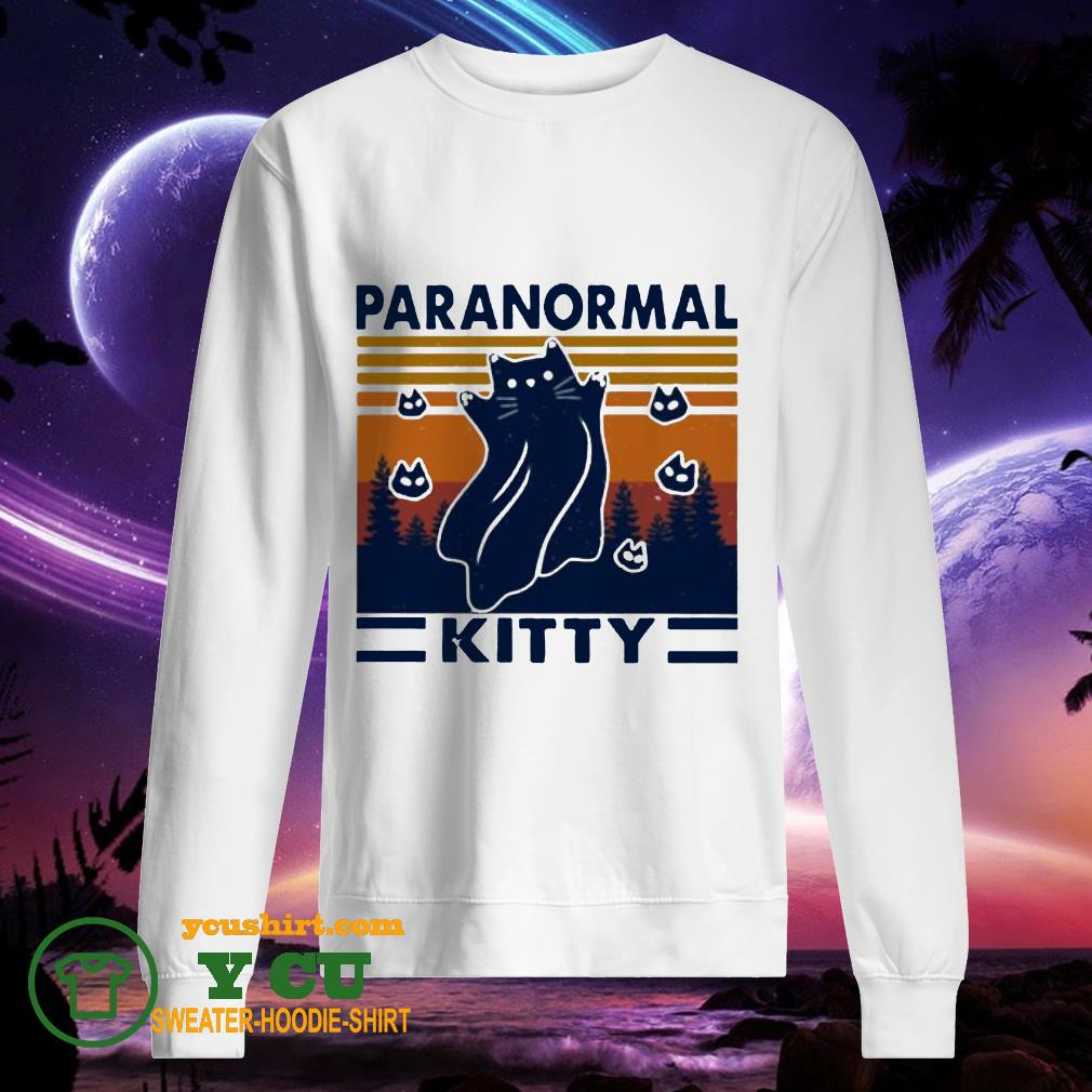 Cat paranormal kitty vintage sweater