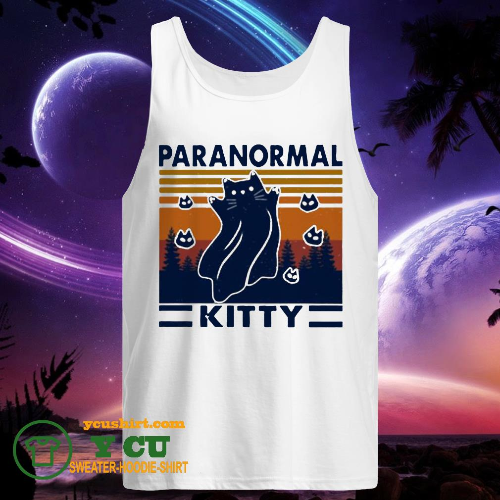 Cat paranormal kitty vintage tank top