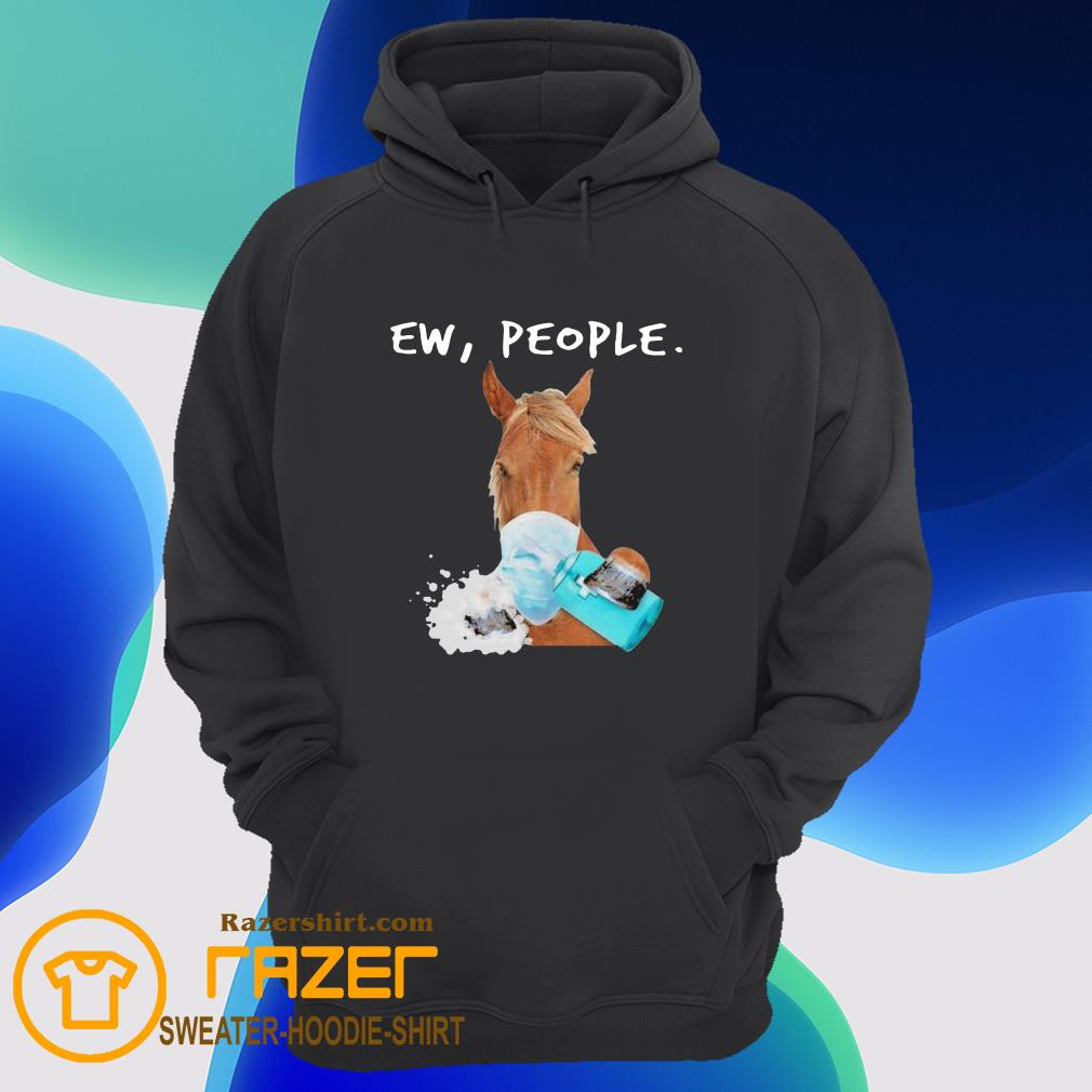Horse face mask Soap ew People Hoodie