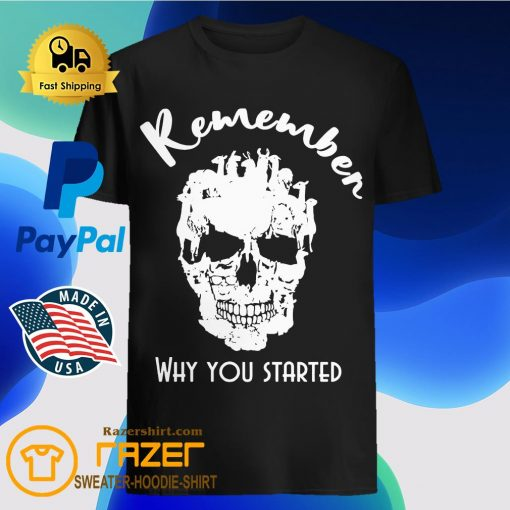 Llama skull Remember Why you started shirt