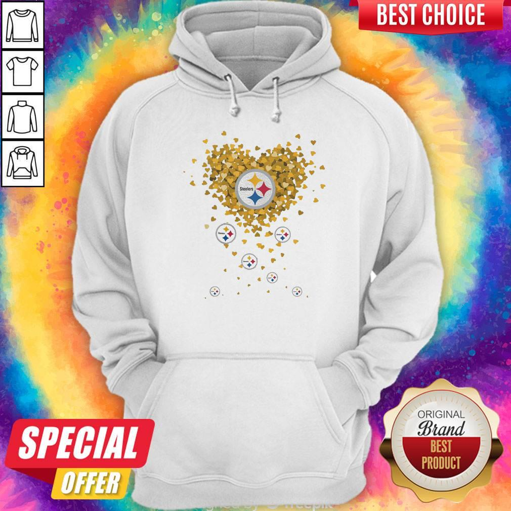 Love Pittsburgh Steelers Football Hearts Hoodie